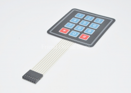 4×3 Membrane Switch Matrix Keypad