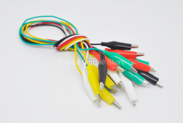 50cm Long Alligator Clips Electrical DIY Test Leads (10pcs)