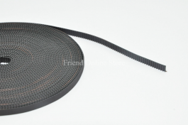 High Quality Black Open Ended GT2 Belt Width 6mm Glass Fiber (Soft Handfeel)