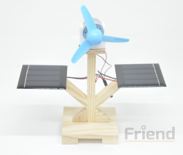DIY Mini Solar Wooden Educational Toy (Without Battery)