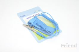 Anti-Static Wrist Band with Strip, Alligator Clips 45mm (Cold/Winter Enviroment Must Use)